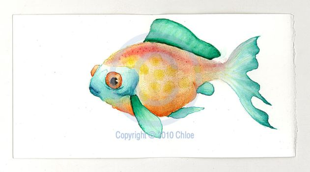 Watercolour Fish by Tsukarii