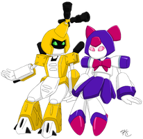 Metabee and Brass by Poefish