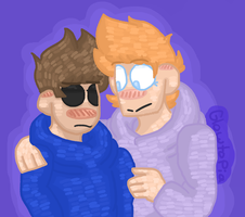 Tom x Matt (Art Trade) by Glowtopia