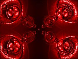 Quadrouple Alien Orbs Red by Noobai
