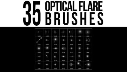 35 Optical Flare Brushes by stockgorilla