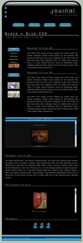 Black + Blue CSS Layout by ClaireJones