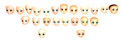 MMD Nakao Head Pack DL by 2234083174