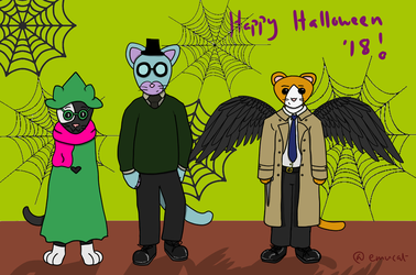 Life on Eggs Halloween 2018 by EmuCat