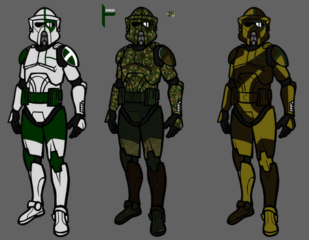262.nd Legion ARF trooper variants. by Sonny007