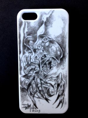 Steam Punk Alien I Phone 5 cover By DW Miller by ConceptsByMiller