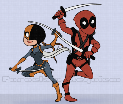 Ravager and Deadpool by Porcelain-Requiem