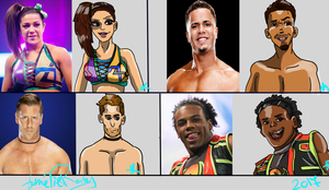 Wwe Sketch by Ameblaziken004