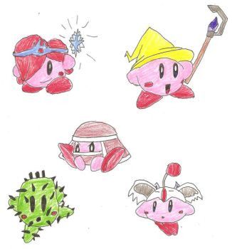 Kirby Hats: Final Fantasy 3on3 by BlackCarrot1129