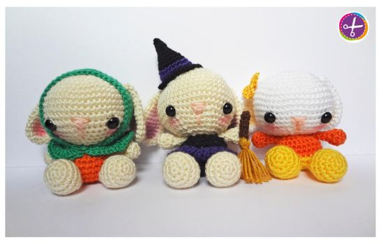 Halloween Bunnies Amigurumi - PACK by HinaPalitah