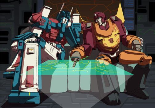 Ultramagnus and Rodimusprime by GreenWild
