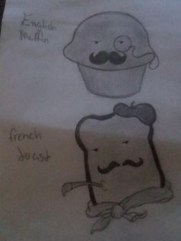 English Muffin and French toast by openyourheart2