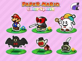 Paper Mario Color Splash art style test 1 by ShadowLifeman