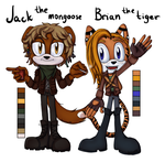 Mongoose and tiger by lizathehedgehog