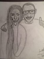 Lady Gaga and Terry Richardson Drawing by fillesu96