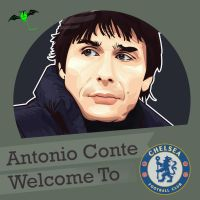 Antonio Conte welcome to chelsea fc by kalongart