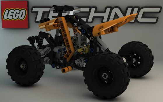 LEGO TECHNIC Quad Bike 9392 II by Dracu-Teufel666
