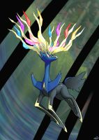 Xerneas by MellowMeloetta