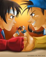 Thumb Fighter by chloebs