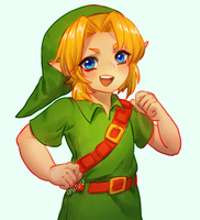 LoZ -- Young Link by onisuu