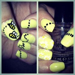 Bee Nails by lilyfae