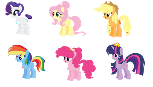 Future Mane 6 by CosmiicKatie