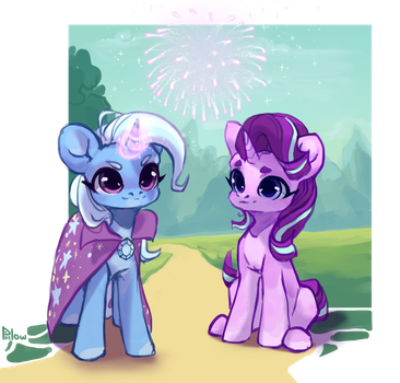 Trixie and Starlight by GrayPillow