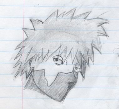 Kakashi Sketch by Nioki-chan