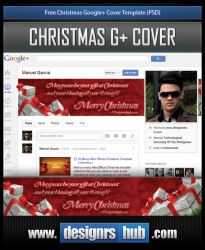 Free Christmas Google+ Cover Template (PSD) by MGraphicDesign
