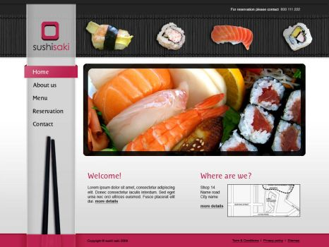 Sushi website by wbeiruti