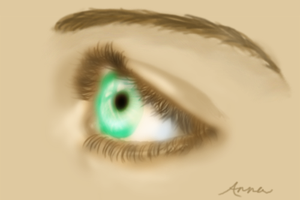 Realistic Eye by theanimeaxis