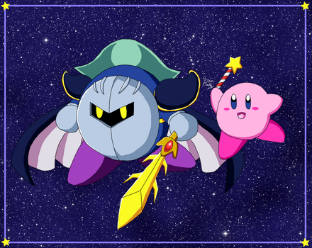 Kirby and Meta Knight by ErinPrimette