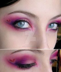 Valentines day make-up by Dead-Rose-16