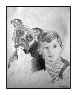 My Cousin And His Dog by DPasschier