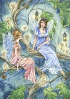 Commission - Fairy Gossip by MeredithDillman