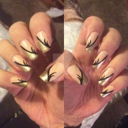 Beige and gold by LadyCelticRose
