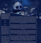 Dark layout preview with text by Hrasulee