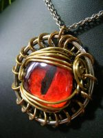 Large Red Dragon Eye by BacktoEarthCreations