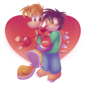 Rayman and Brandy by NewbornRay