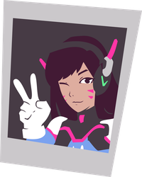 D.Va Photo [Spray] - Vector by gabrielwoj