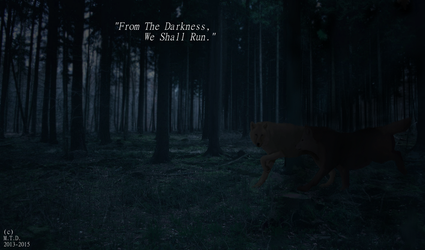 Running From Darkness by Mysterious-Tiger