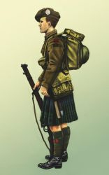Highland soldier WW1 by timcatherall