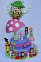 Tinkerbell and Fairies Cake by Verusca