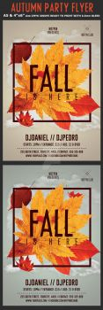 Fall Party Flyer Template by Hotpindesigns
