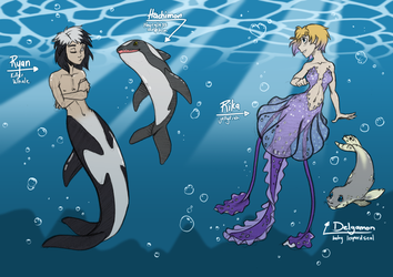 DW Mermaid AU by AbnormallyNice