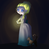 Lalaloopsy at night by BloodDropMary