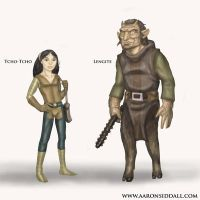 Tcho Tcho and Lengite by MythAdvocate