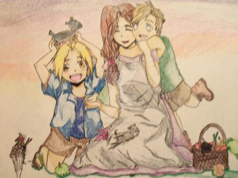 Elric Family by LadyOfMoonlight