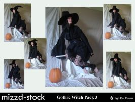 Gothic Witch Pack 3 by mizzd-stock