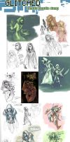 GLITCHED concepts (tumblr collection) by Shazzbaa